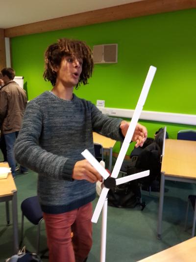 Duli building a efficient wind turbine